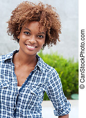 pretty african american college student