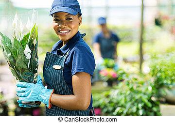 african american nursery worker