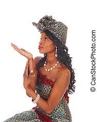 Pretty African American woman.