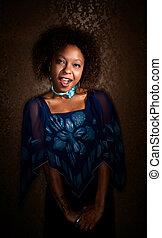 Pretty African-American Woman