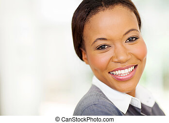 pretty african businesswoman close up