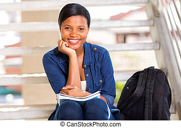 african college girl portrait