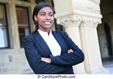 Pretty African University Student