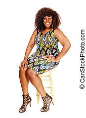 Pretty African woman.
