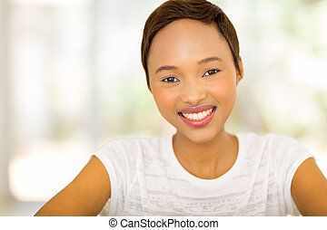 pretty african woman