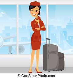 Pretty Asian Flight Attendant in ai - Pretty Asian Flight...