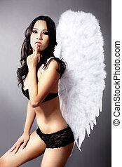 pretty Asian woman angel