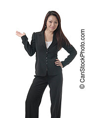 Pretty Asian woman in business attire