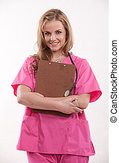 Pretty Attractive beautiful twenties caucasian woman healthcare professional