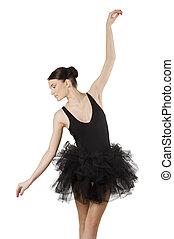 pretty ballerina in black