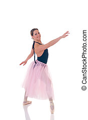 Pretty ballerina - Portrait of a dancing ballerina, ballet...