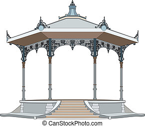 Pretty bandstand - Vector illustration of a bandstand, EPS 8...