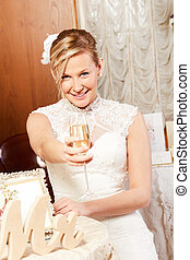 pretty blond bride