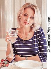Pretty blond woman