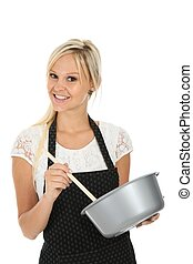 Pretty  Blonde Cooking Woman