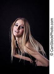Pretty blonde yong woman