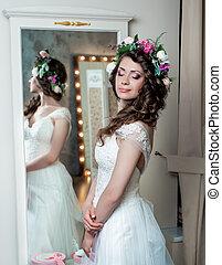 Pretty Bride Portrait wedding makeup
