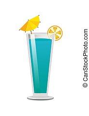 Pretty Bright Blue Drink Template Color Banner