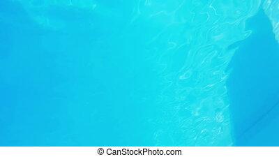 Pretty brunette diving underwater i