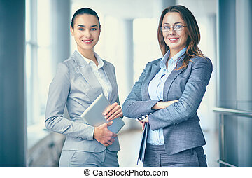Pretty business partners - Image of two confident...