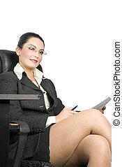 Pretty business woman