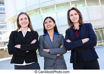 Pretty Business Women at Office - Pretty, young attractive...
