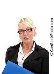 Pretty businesswoman with glasses