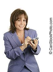 Pretty Businesswoman with PDA