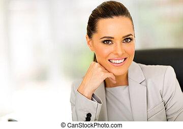 caucasian business woman