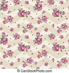 Pretty Chevron Roses Wallpaper