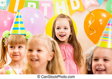 pretty children on birthday party