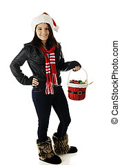 Pretty Christmas Teen