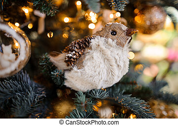 Pretty Christmas tree decoration toy in the form of a bird