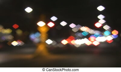 Pretty city lights. - Defocused lights at a Toronto...