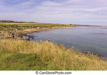 Pretty coastline in Fife Scotland