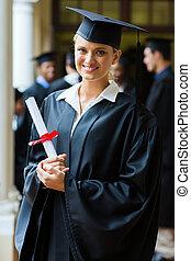 pretty college graduate