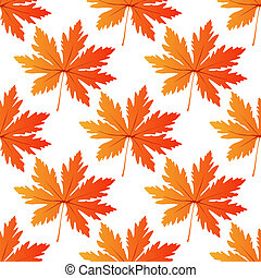 Pretty colorful autumn leaf seamless pattern