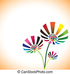Pretty colorful spring flower bunch with copy space for...