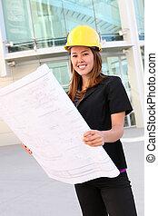 Pretty Construction Woman