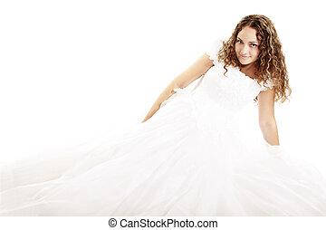 Pretty curly bride
