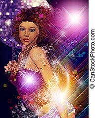 Pretty dancing girl