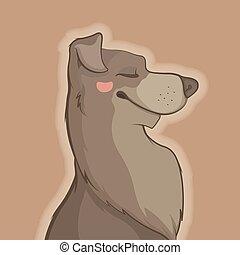 Illustration of pretty dog
