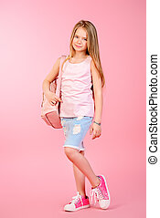 pretty eight year old girl - Children's fashion. Cute eight...