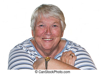 pretty elderly woman