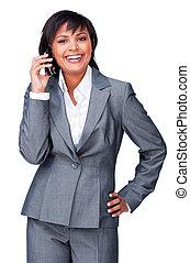 Pretty ethnic businesswoman
