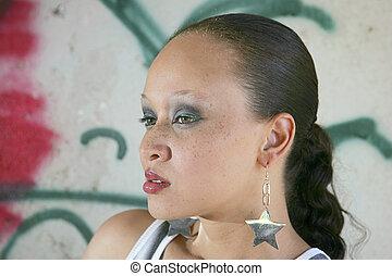 pretty ethnic woman