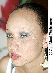 pretty ethnic woman - pretty African American woman portrait...