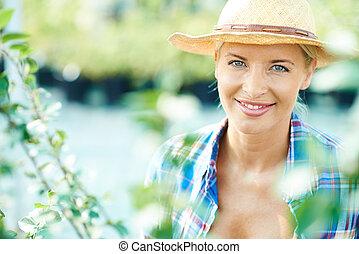 Pretty farmer