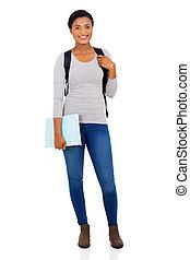 female african american university student full length