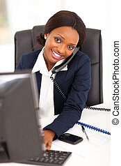 pretty female african corporate worker